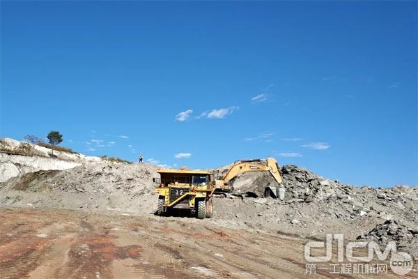 图:三一矿山设备在赞比亚铜矿