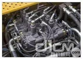 E6360F搭载的双泵恒功率负流量控制液压系统