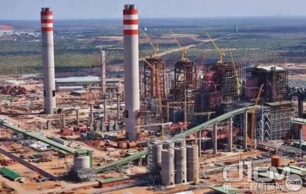 三一设备参建非洲最大发电厂