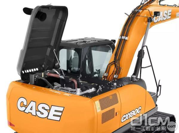 凯斯CX180C挖掘机搭载符合中国第三阶段排放标准的低排放发动机