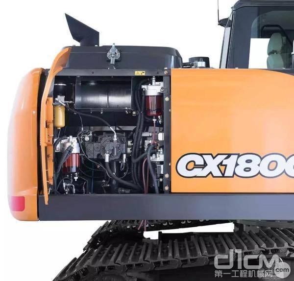 凯斯CX180C挖掘机采用独有的PCSTM精准液压控制系统