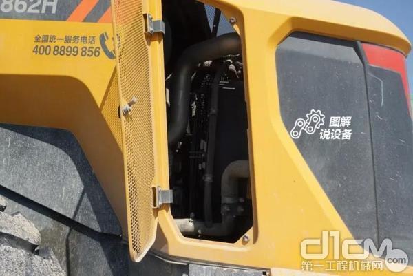 柳工862H装载机后机罩小侧窗