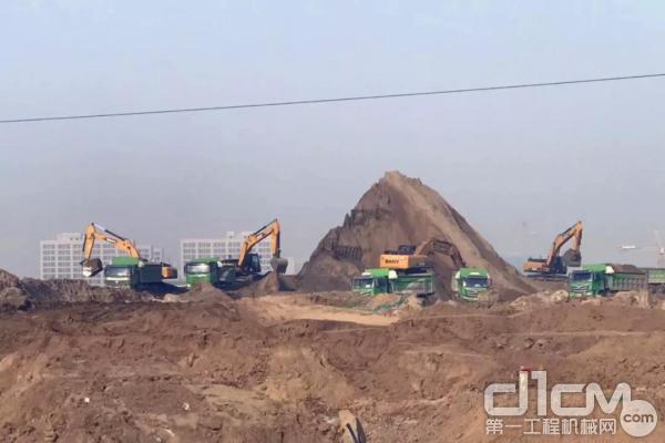 三一挖掘机参建北京大兴机场