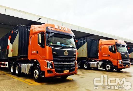 国内首批600马力玉柴YCK13国六发动机配套柳汽乘龙H7车型正式投入甩挂运营