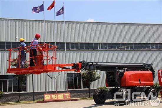 星邦重工GTZZ46J曲臂式高空作业平台顺利下线