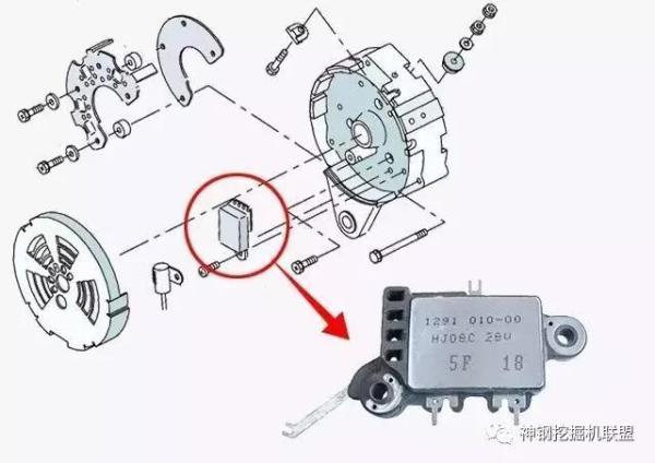 发电机内置调节器故障排查