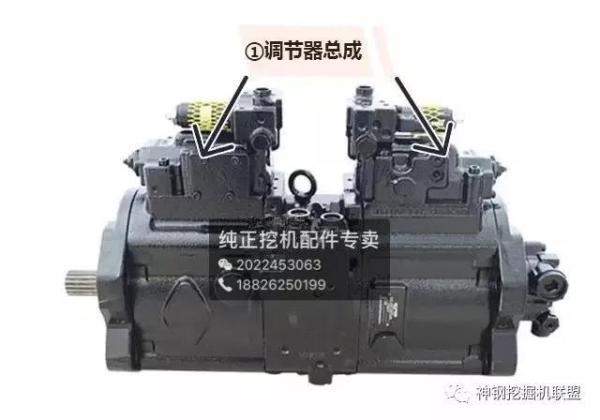 挖掘机液压泵调节总成