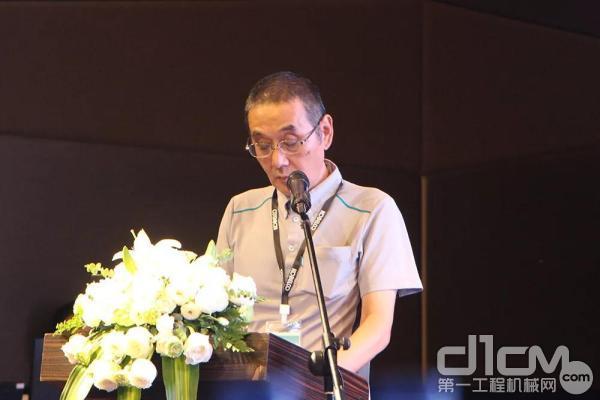 神钢建机(中国)有限公司总经理纪藤真治致辞
