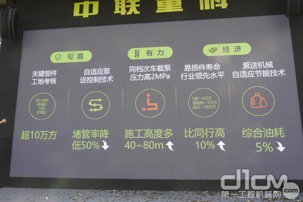 中联重科国六车载泵产品特点