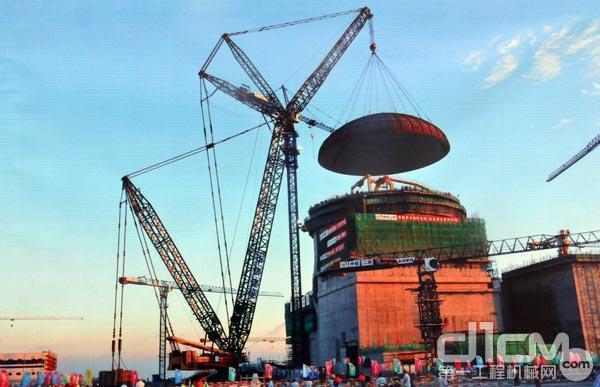福建福清核电站1号穹顶吊装