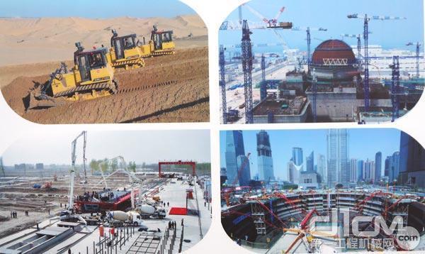 库布齐沙漠光伏项目、核电工程建设、京津城际高速铁路建设、上海中心大厦地板浇筑
