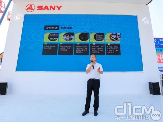 三一路机研究所研发工程师贾干先生介绍H系列压路机