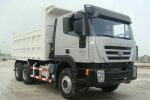 红岩杰狮C100 350马力 6X4 自卸车(上菲红)(CQ3255HTG444)