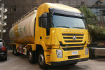红岩杰狮C100 390马力 8X4 粉粒物料运输车(CQ5315GFLHTG466)(上菲红13系列)