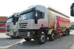 红岩杰狮M100 390马力 8X4 粉粒物料运输车(CQ5315GFLHTG466)
