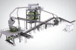 中联重科ZGM250平面式机制砂石生产线