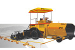 西筑LTD450型轮胎式摊铺机