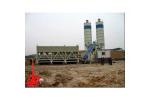 中国现代HZNT45拖式混凝土搅拌站