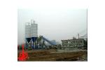 中国现代HZS120E快装式混凝土搅拌站