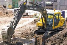 沃尔沃EC140B Prime履带挖掘机整机视图全部图片