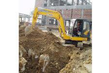 徐工XE60CA履带挖掘机施工现场全部图片