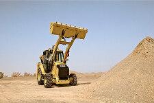 卡特彼勒422F侧移挖掘装载机施工现场27226