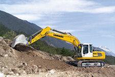 利勃海尔R 926 Litronic履带挖掘机施工现场全部图片