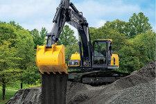 约翰迪尔E240LC履带挖掘机施工现场全部图片