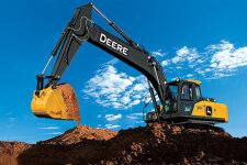 约翰迪尔E260LC履带挖掘机施工现场全部图片