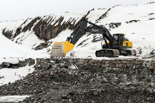 约翰迪尔E330LC履带挖掘机施工现场全部图片