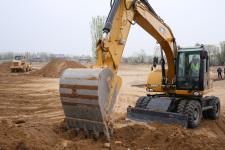 卡特彼勒M315D2轮式挖掘机施工现场30890