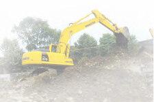 小松PC270-7履带挖掘机施工现场全部图片