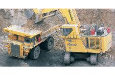 小松PC4000-6履帶挖掘機施工現場31729