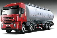 杰狮C100 390马力 8X4 粉粒物料运输车(CQ5315GFLHTG466)(上菲红13系列)