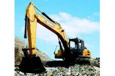 三一SY245H履带挖掘机施工现场36976