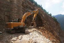 三一SY245H履带挖掘机施工现场40689