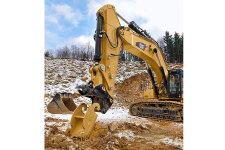 卡特彼勒390F L大型矿用挖掘机施工现场全部图片