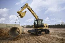 卡特彼勒M315D2轮式挖掘机施工现场40916