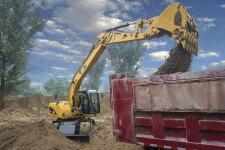 卡特彼勒M315D2轮式挖掘机施工现场40918