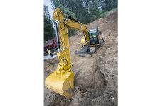 卡特彼勒M317D2轮式挖掘机施工现场40924
