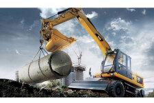 卡特彼勒M317D2轮式挖掘机施工现场40925