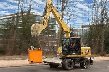 卡特彼勒M317D2轮式挖掘机施工现场40928