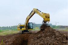 卡特彼勒新一代320液压挖掘机施工现场44438