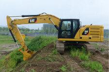 卡特彼勒新一代320液压挖掘机施工现场44439