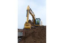 卡特彼勒新一代320液压挖掘机施工现场44442