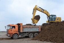 卡特彼勒新一代320液压挖掘机施工现场44443