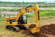 卡特彼勒320 GC液压挖掘机施工现场44459