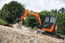 日立ZX55USR-5A履带挖掘机施工现场全部图片