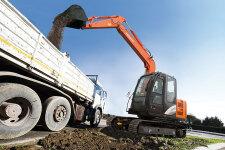 日立ZX70-5A履带挖掘机施工现场45328