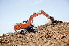 日立ZX200-5A履带挖掘机施工现场全部图片